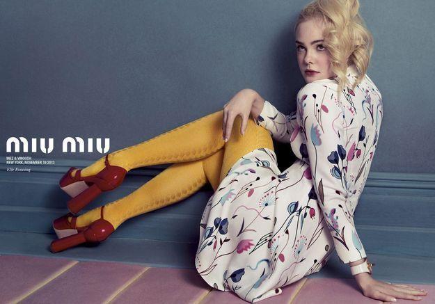 Elle Fanning et Elizabeth Olsen ingénues sensuelles pour Miu Miu