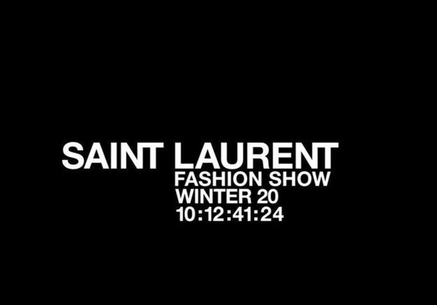 Fashion Week : suivez en direct le défilé Saint Laurent