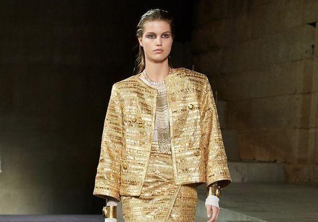 Défilé Chanel : Karl Lagarfeld nous plonge dans l'Égypte Antique pour sa collection Métiers d'art 2019