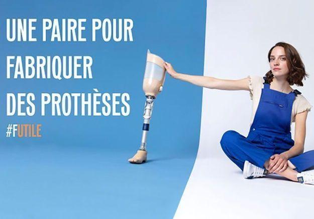 #ElleFashionCrush : Caval s'associe à Handicap International autour d'une basket solidaire