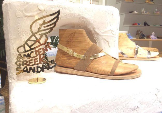 #ELLEFashionSpot : Ancient Greek Sandals s'installe au Bon Marché