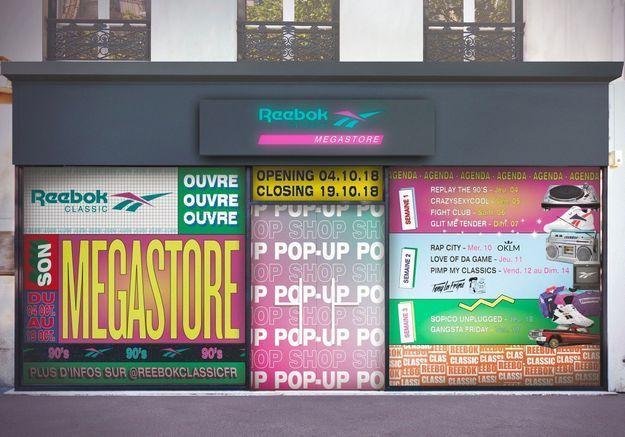 #ELLEFashionSpot : On s'offre un retour dans les 90's au Megastore Reebok !
