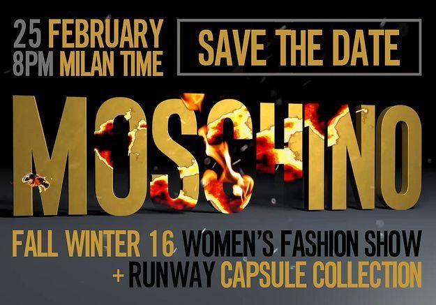 Fashion Week : suivez le défilé Moschino en direct à 20h