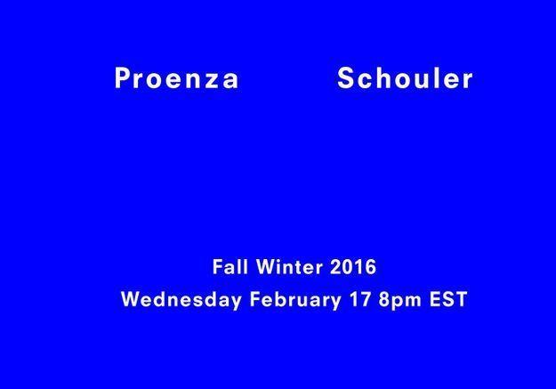 Fashion Week : Suivez le défilé Proenza Schouler en direct