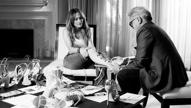 Giuseppe Zanotti et Jennifer Lopez