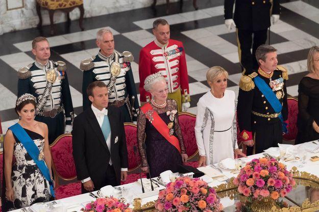Le couple Macron en dîner officiel au Danemark
