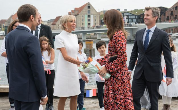 Le couple présidentiel avec la princesse Mary et Fredrick du Danemark