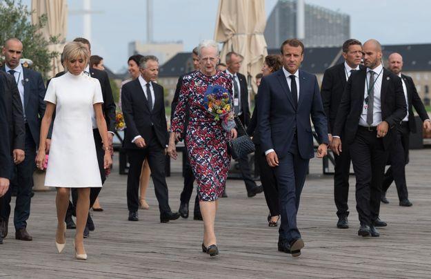 Le couple présidentiel avec la reine Margreth