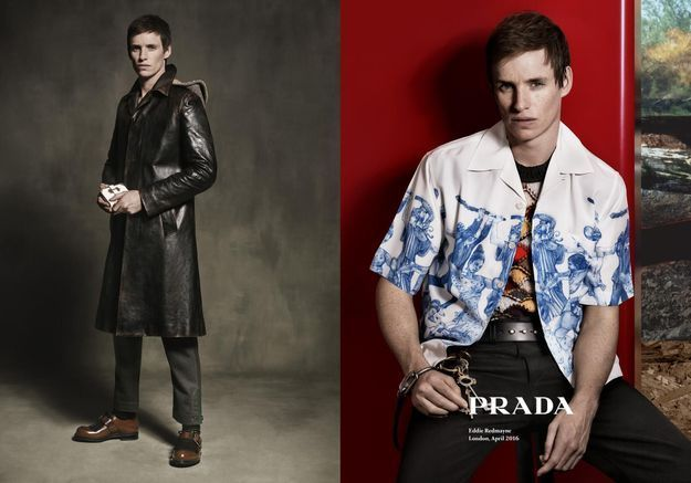 #PrêtàLiker : Eddie Redmayne prend la pose pour Prada