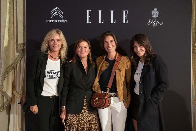Marie Poniatowski (Stone), Véronique Vatinos (ELLE), Alessandra Sublet et Hortense D'Estève