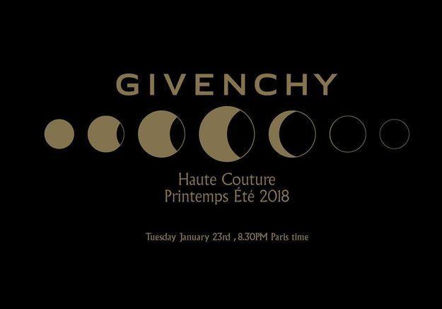 Suivez en direct le défilé Givenchy haute couture