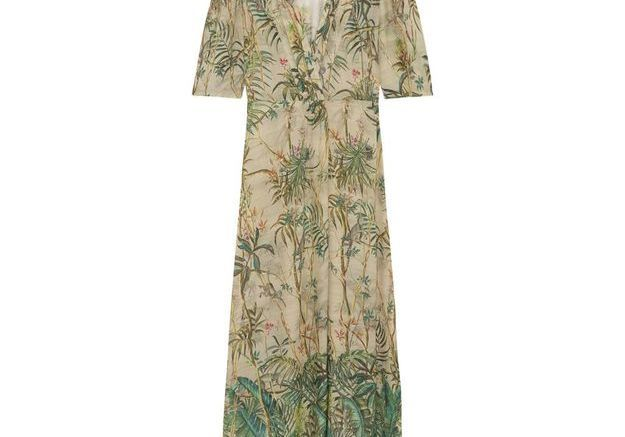 Robe longue imprimé jungle