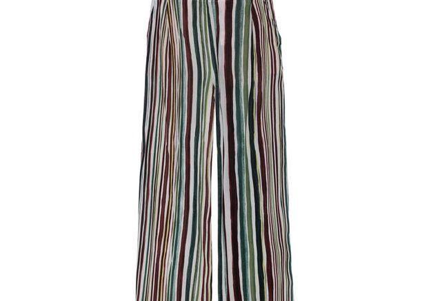 Pantalon à rayures multicolores