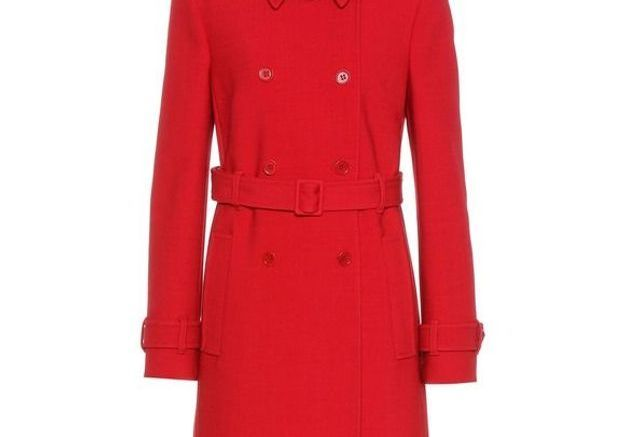 Manteau rouge ceinturé Red Valentino