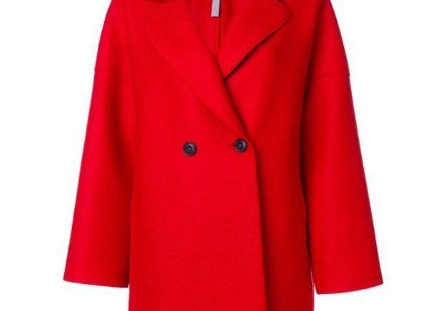 Manteau rouge court Harris Wharf London