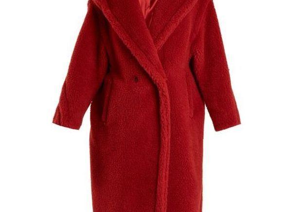 Manteau rouge doudou Max Mara
