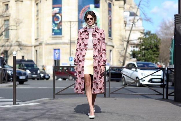 Manteau à imprimé vintage