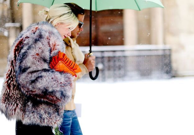 Street style : comment être chic sous la neige ?