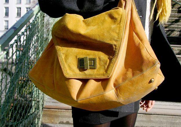 Street style : vos accessoires fétiches sac jaune