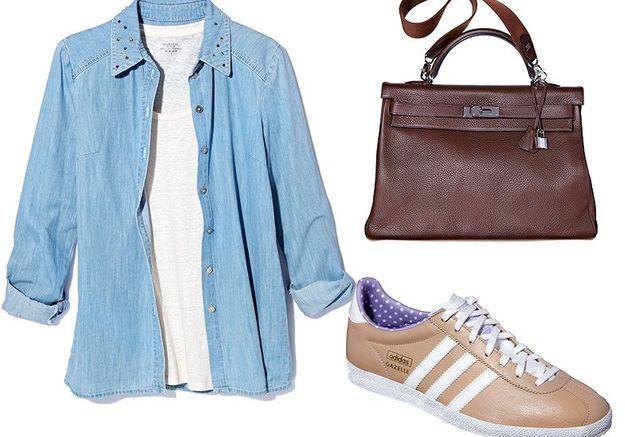 Mode tendance shopping jean look jean couleur accessoire
