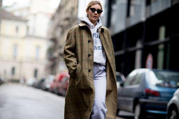 Sous un manteau vintage