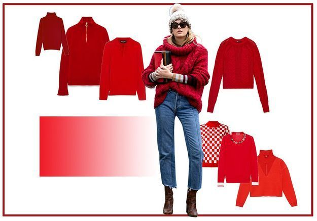 25 pulls rouges pour un look on fire