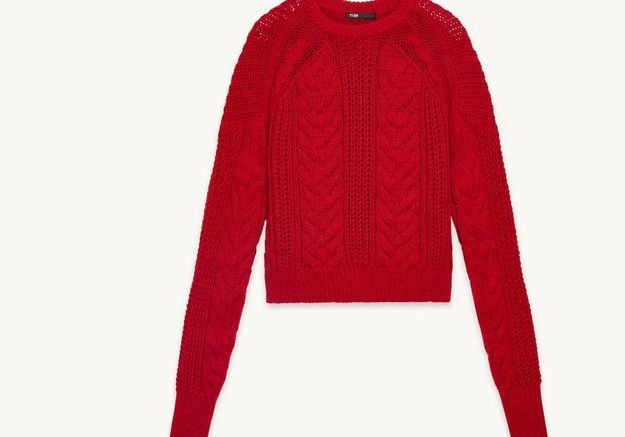 Pull rouge Maje
