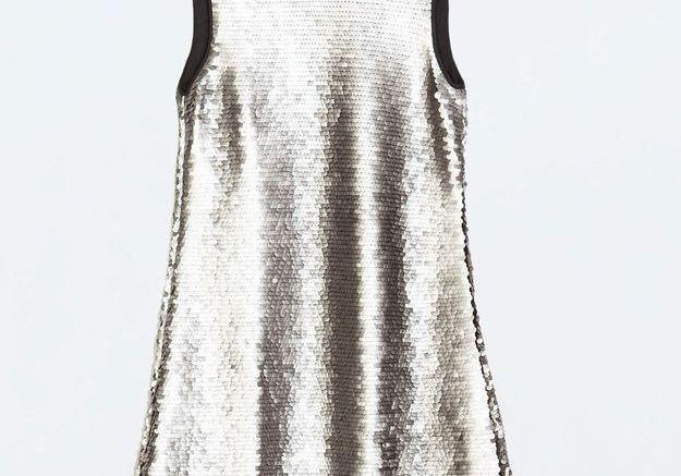 Robe argentée Zara
