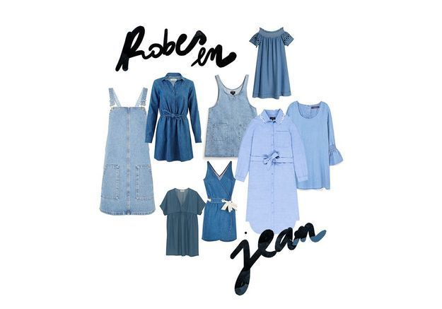 20 robes en jean pour être chic en denim