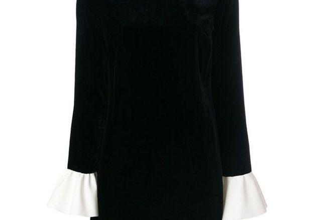 Robe en velours à col claudine Blanchett Dame