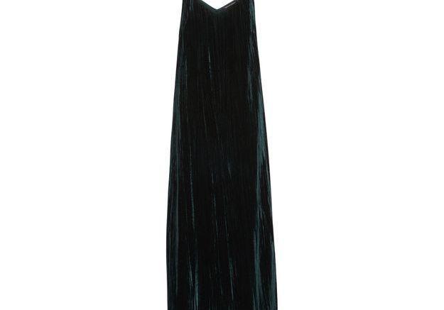 Robe en velours à fine bretelle Monoprix