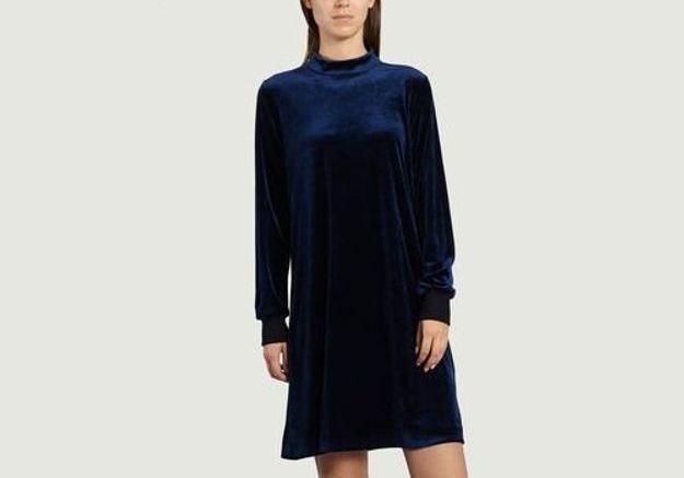 Robe en velours bleu Sonia By Sonia Rykiel