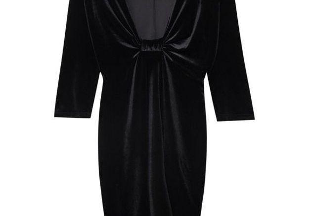 Robe en velours décolletée Pull & Bear