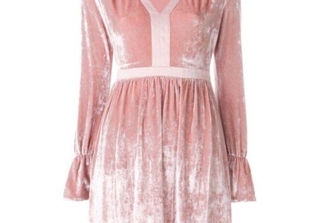 Robe en velours rose Twin Set