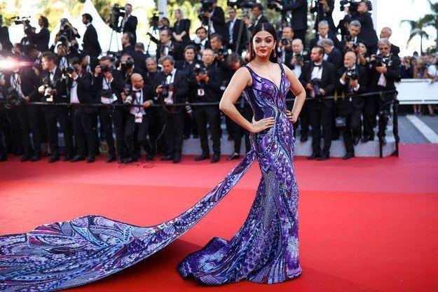 La robe paon de Aishwarya Rai