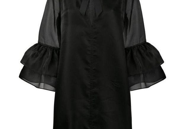 Robe noire à manches bouffantes Ganni