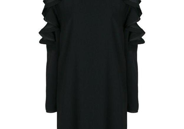 Robe noire à manches longues P.A.R.O.S.H.