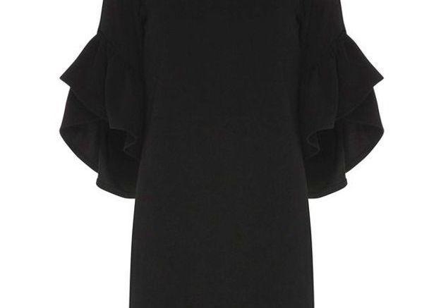 Robe noire à volants Dorothy Perkins