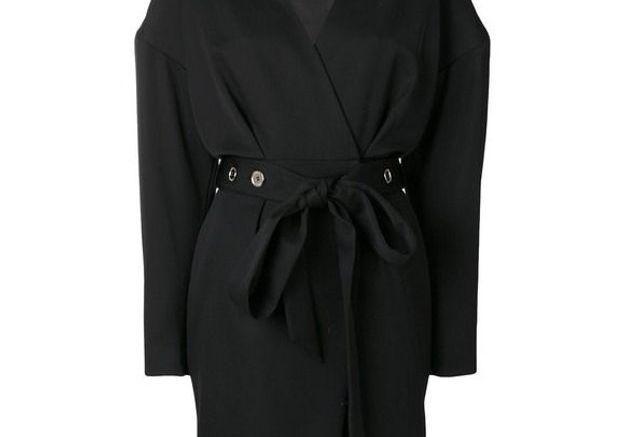 Robe noire ceinturée Alexandre Vauthier