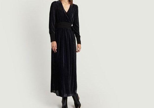 Robe noire dévorée Tara Jarmon