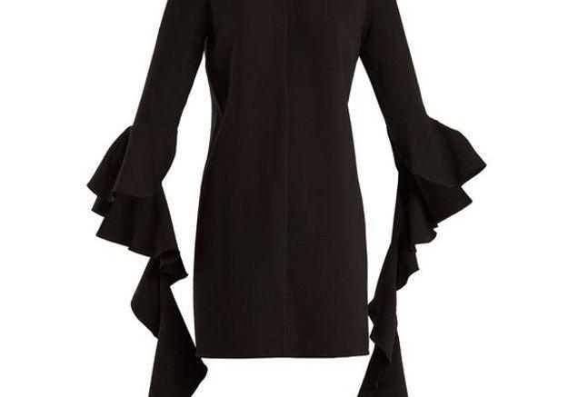 Robe noire en crêpe Ellery
