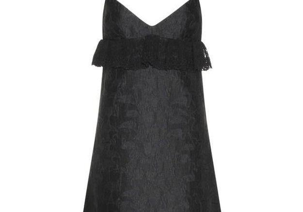 Robe noire en jacquard Giamba