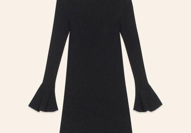 Robe noire en lurex Maje
