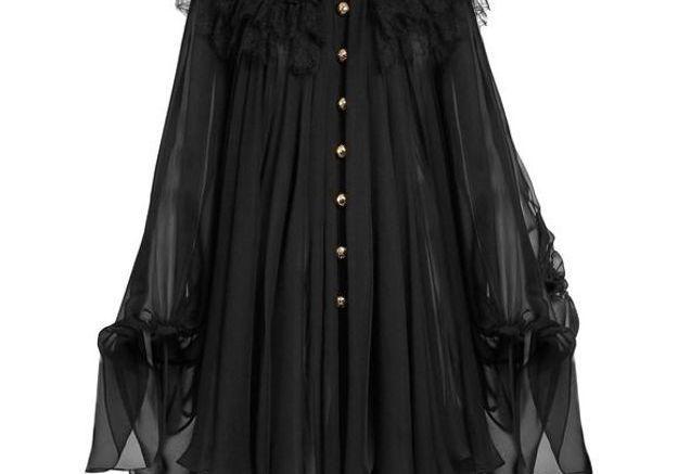 Robe noire en mousseline Dolce & Gabbana