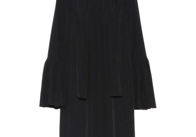 Robe noire en soie Fendi