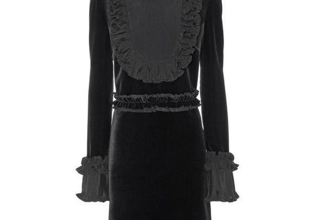 Robe noire en velours Gucci