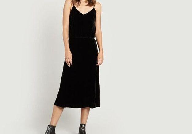 Robe noire en velours Mes Demoiselles
