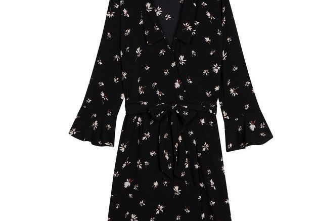 Robe noire portefeuille Rouje