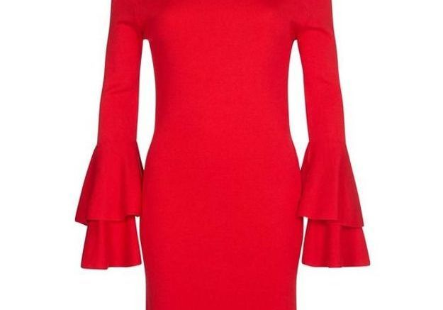 Robe rouge à volants Dorothy Perkins