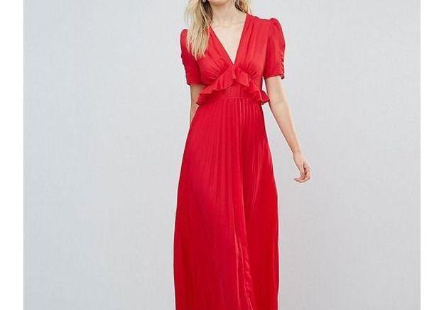 Robe rouge longue ASOS